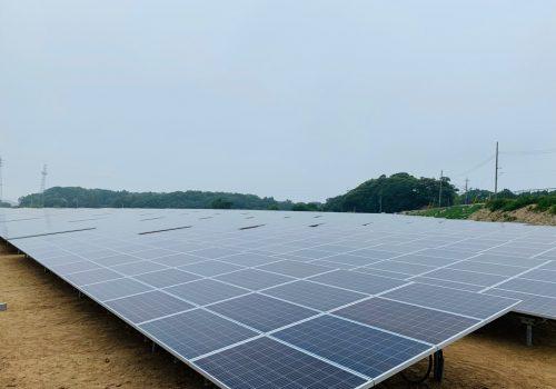 KJC 関東 10MW 傾斜地 太陽光発電所
