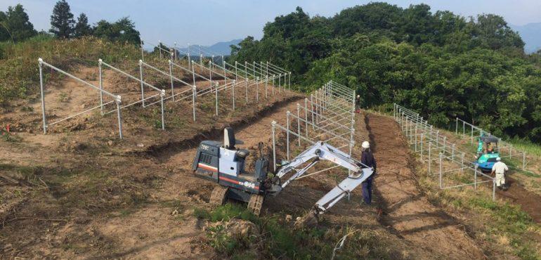 KJC 長野県 20度 傾斜地 太陽光 架台