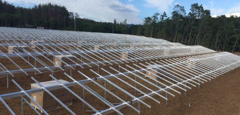 KJC 山梨県 1.2MW 太陽光 架台