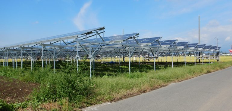 KJC 群馬県 営農型 太陽光 ソーラーシェアリング